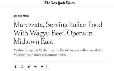 The New York Times Introduced Marezzata